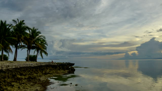 Sunset view of Henan beach at Bohol island