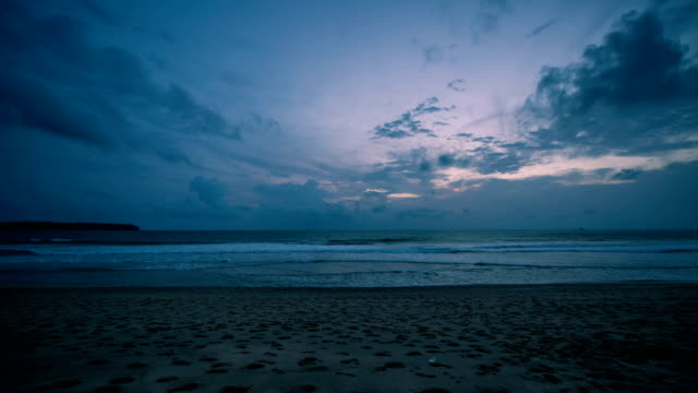 sunset view of the beach in phuket, thailand - tropical climate stock videos & royalty-free footage