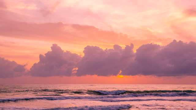sunset view of the beach in phuket, thailand - phuket stock videos & royalty-free footage