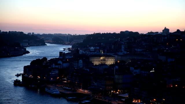 puesta de sol vista del río Duero y Ribeiro