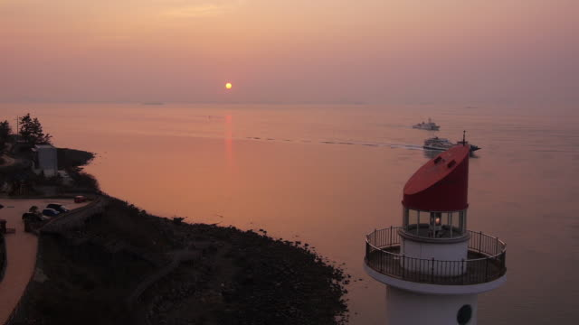 Sunset view of the sea near Mokpogu lighthouse