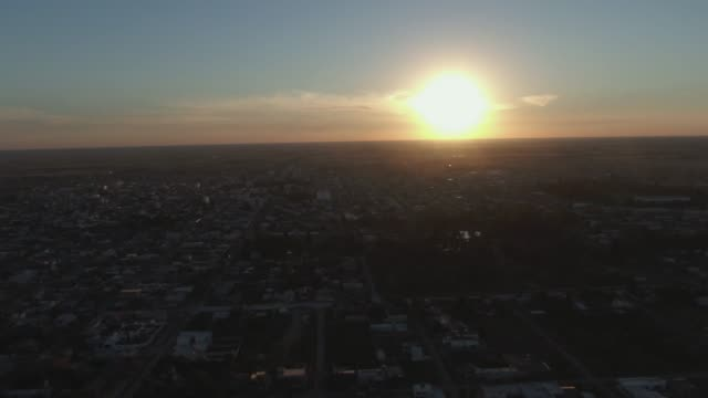 sunset view over esperanza, santa fe - argentina stock videos and b-roll footage