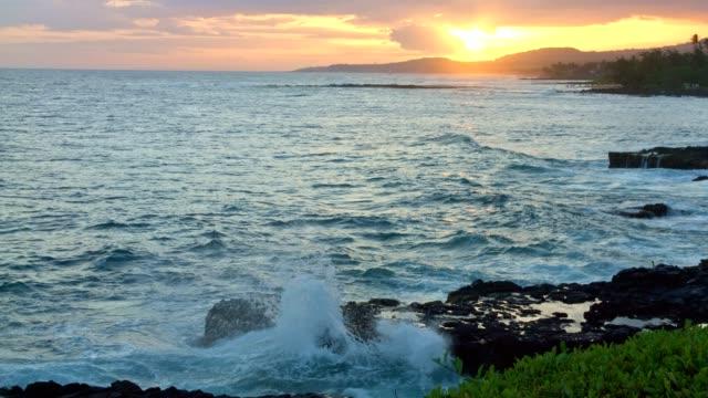 Sunset Waves Poipu  Kauai Hawaii