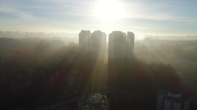 sunset with the buildings - 逆光点の映像素材/bロール