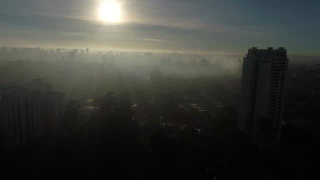 sunset with the buildings - são paulo stock videos & royalty-free footage