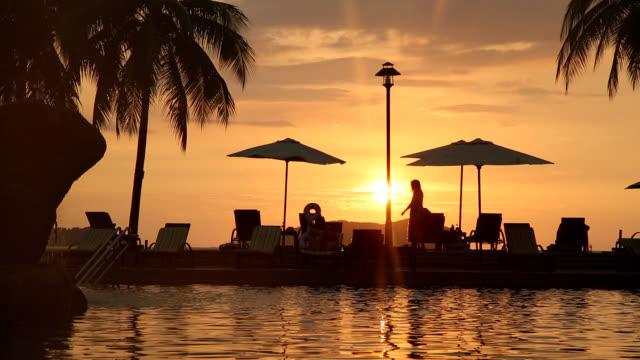 Sunsetting view of Kota Kinabalu Beach in Malaysia