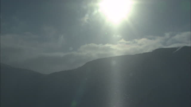sunshine daisetsuzan volcanic group in winter, hokkaid_ - daisetsuzan volcanic group stock videos and b-roll footage