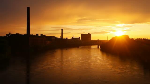 Sunshower in Lowell, Massachusetts