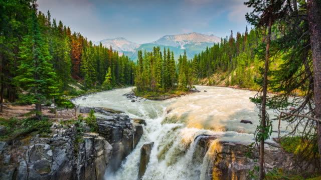 Sunwapta Falls, Nationaal Park Jasper, Alberta, Canada