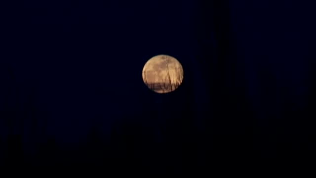 Super Blue Blood Moon rises behind the Temple of Zeus in Kutahya province Turkey on January 31 2018 The Super Blue Blood Moon combines three lunar...