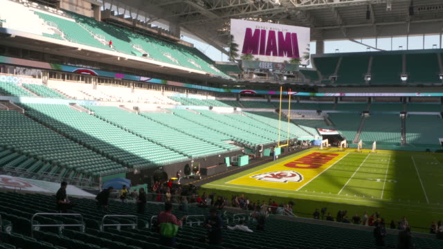 atmosphere super bowl liv hard rock stadium atmosphere on january 28 2020 in miami florida - super bowl stock videos & royalty-free footage