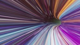 A super fast colorful wormhole flying through loop