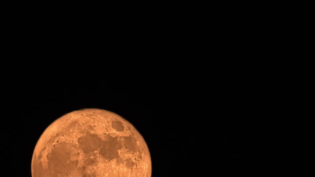 Super moon on November the 14th, 2016. Full Moon Rising Time Lapse