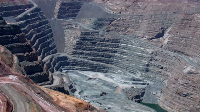 Super pit gold mine in Kalgoorlie Boulder in the Australian Outback. Western Australia