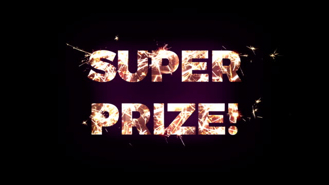 """super prize"" text made of bengal lights - jackpot stock videos and b-roll footage"