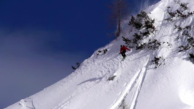 HD Super Slo-Mo: Free Ride Skier at Downhill