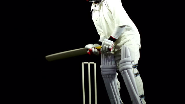 Super Slow motion - Bowled out in cricket match