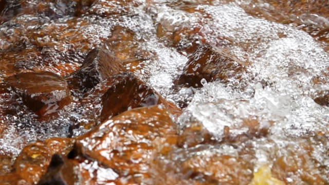HD Super Slow motion Close-up Flowing Clear Water.