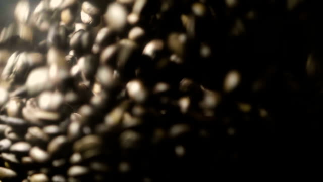 Super Slow Motion kaffebönor