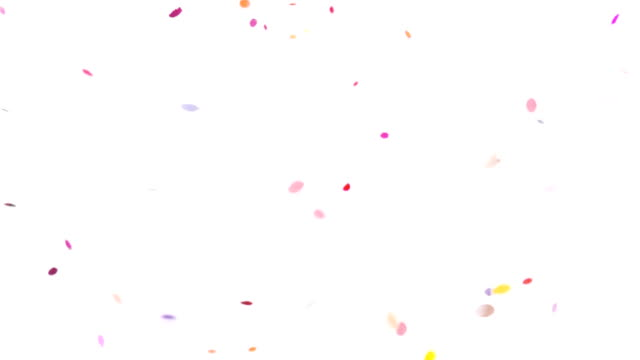 super slow motion confettis - confetti stock videos & royalty-free footage