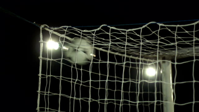 super slow motion,  football / soccer goal scored into net - scoring a goal stock videos and b-roll footage