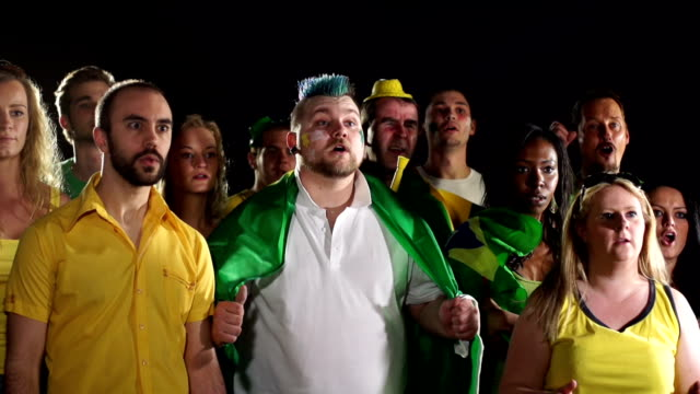 Super Slow Motion HD - Brazil Fans rue Missed chance
