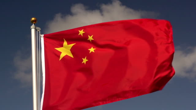 super slow motion hd - china flag - chinese flag stock videos and b-roll footage