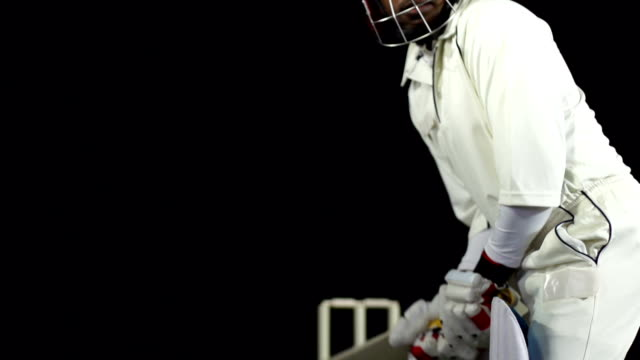 Super Slow Motion HD - Cricketer playing a shot (Cricket)