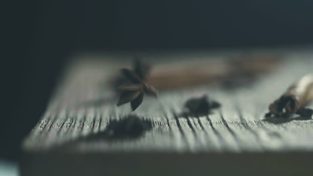 Super slow motion  : health anise star-shaped lie