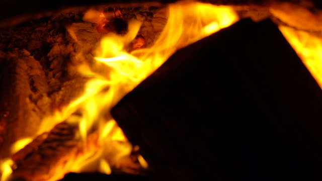 super slow motion of fire flames - log stock videos & royalty-free footage