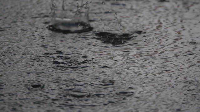 super slow motion: rain drop on the floor. - super slow motion stock videos & royalty-free footage