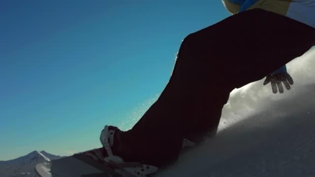 HD Super Slow-Mo: Back Lit Snowboarder