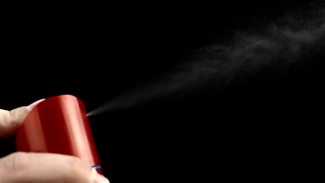 hd super slow-mo: backlit aerosol - spraying stock videos and b-roll footage