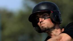 HD Super Slow-Mo: Baseball Batter In Action