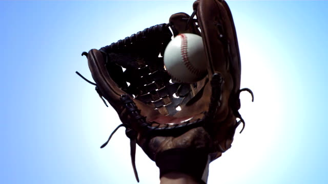hd super slow-mo: baseball big catch - baseball player stock videos & royalty-free footage