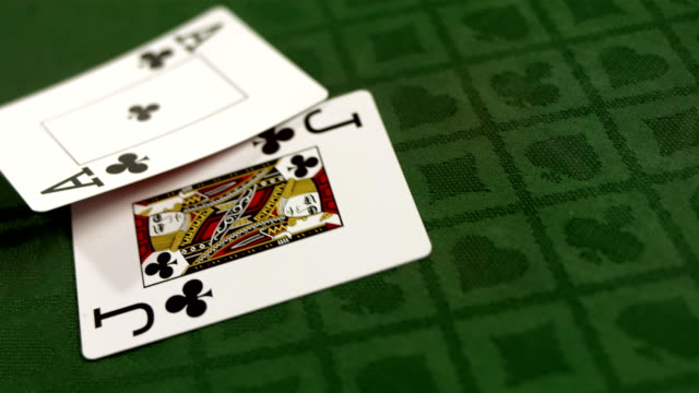 hd super slow-mo: blackjack starting hand - blackjack stock videos and b-roll footage