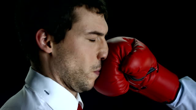 HD Super Slow-Mo: Businessman Get Knockout