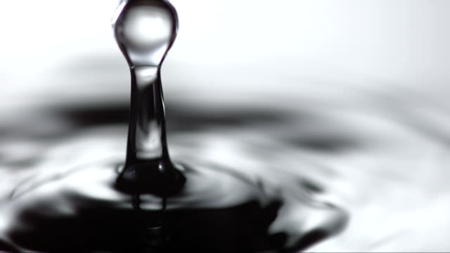 hd super slow-mo: close-up of water droplet - splashing droplet stock videos and b-roll footage