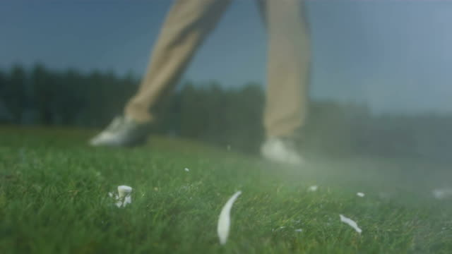 hd super slow-mo: crushing the ball with golf club - golf club stock videos & royalty-free footage