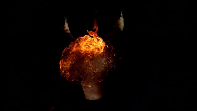 HD 超スローモーション: Demon 呼吸暖炉