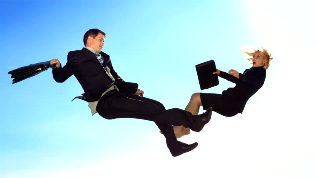 hd super slow-mo: executives falling down - super slow motion stock videos & royalty-free footage