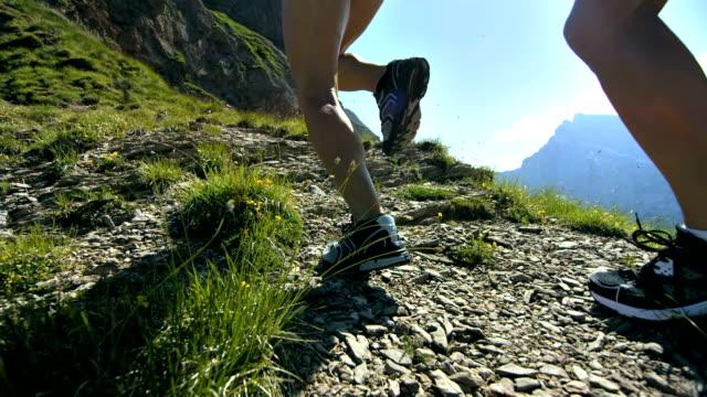 HD Super Slow-Mo: Extreme Athletes Running Uphill