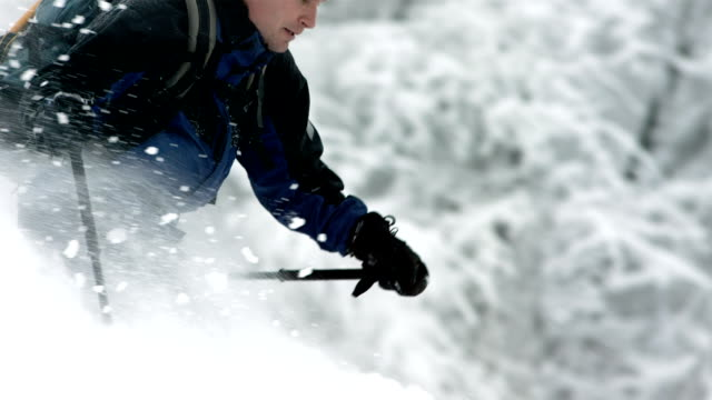 HD Super Slow-Mo: Extreme Backcountry Skier In Action