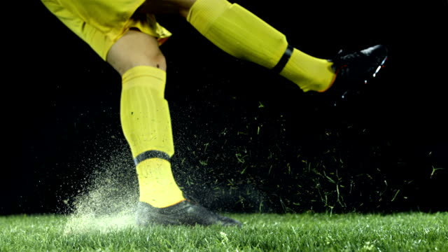 hd super slow-mo: goal kick - football stock videos & royalty-free footage