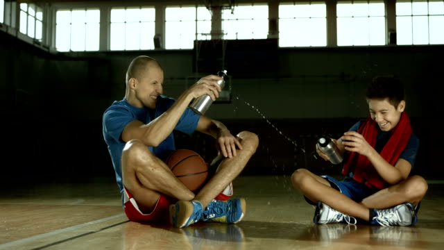 HD Super Slow-Mo: Having Fun On Basketball Court