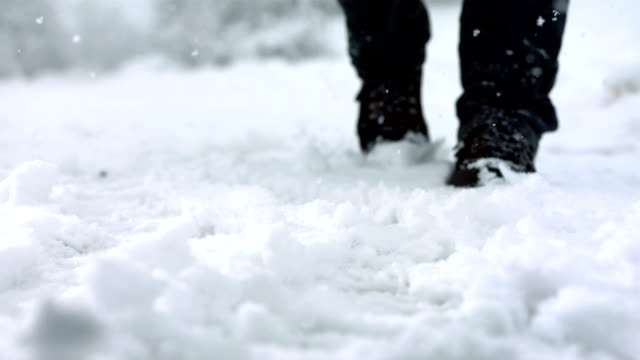 HD Super Slow-Mo: Kicking Snow