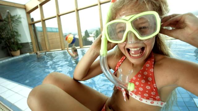 HD Super Slow-Mo: Kids Having Fun In The Pool
