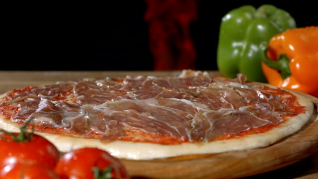 hd super slow-mo: making a pizza - hearth oven stock videos & royalty-free footage