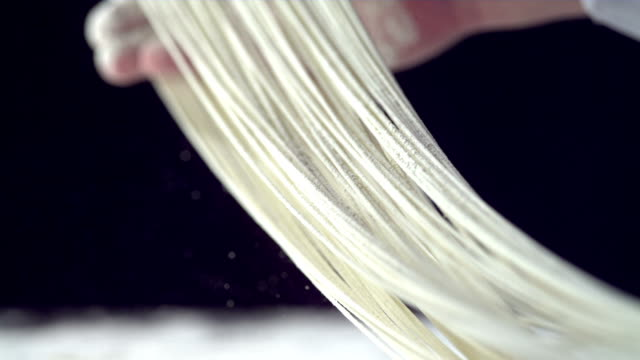 hd super slow-mo: making noodles - preparation stock videos & royalty-free footage
