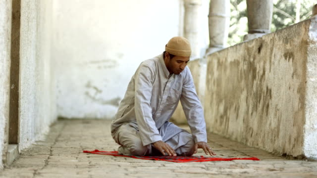 HD Super Slow-Mo: Muslim Man In Sujud Position